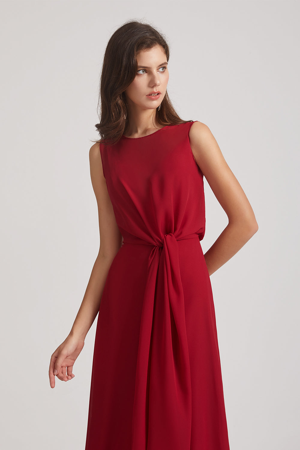 tie-waist bridesmaids dresses