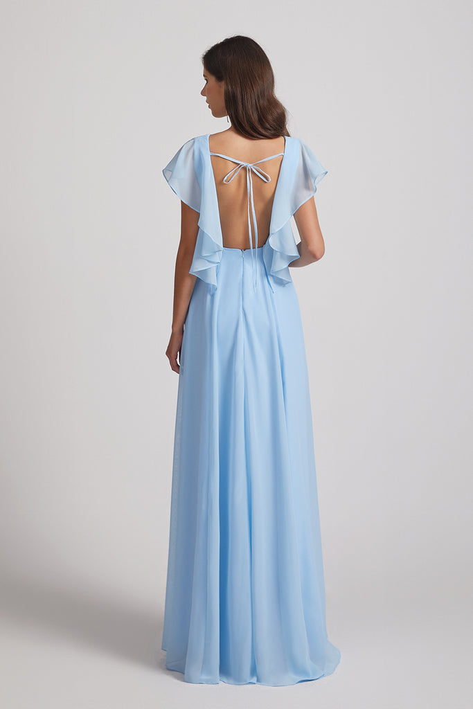 backless lace-up gown
