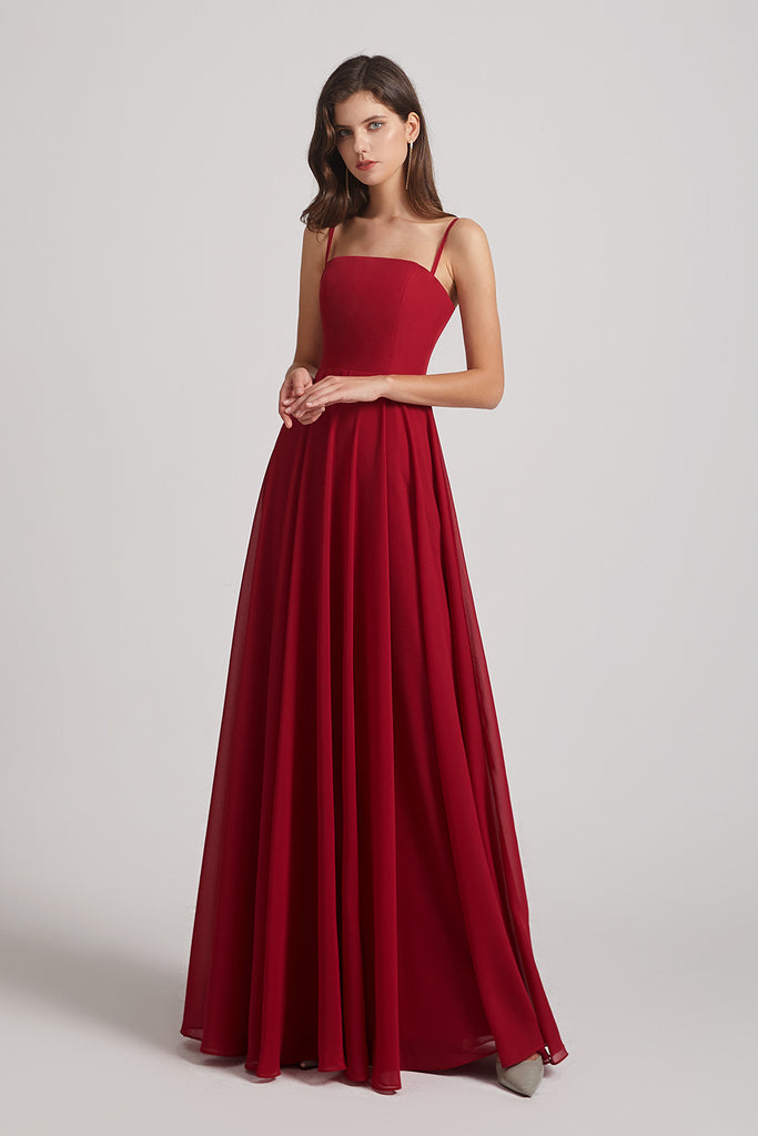 ruffles chiffon bridesmaid gown