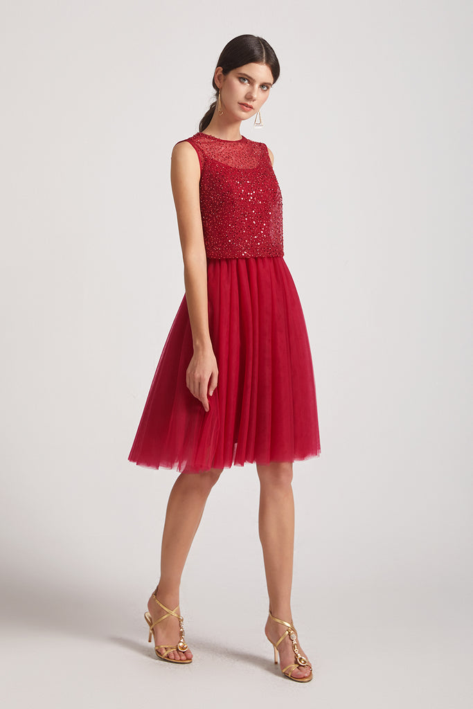 spaghetti straps homecoming dress with sleeveless jacket