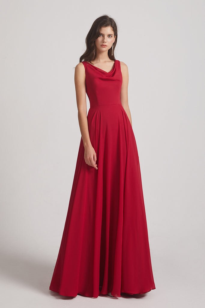 a-line bridesmaid gown