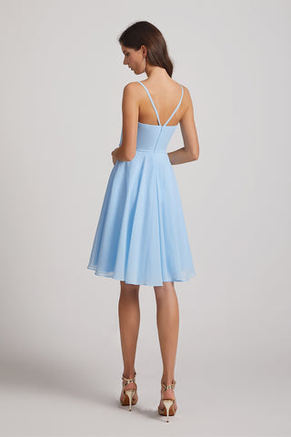 ruffles maid of honor dress
