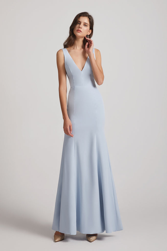 long bridesmaids gown