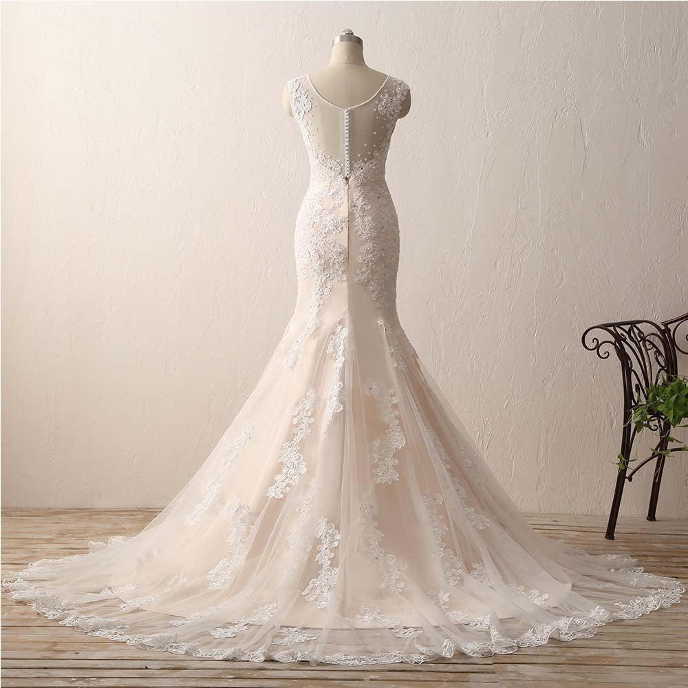 mermaid lace wedding dresses