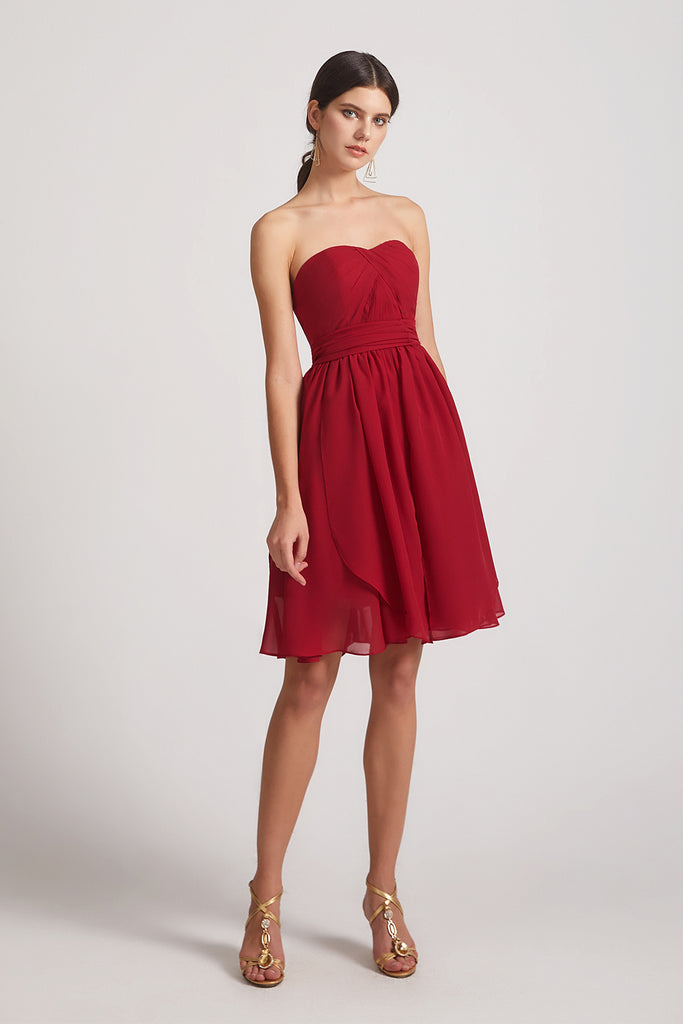 sweetheart a-line short  bridesmaid dress