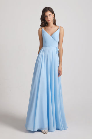 sleeveless ruched chiffon dresses