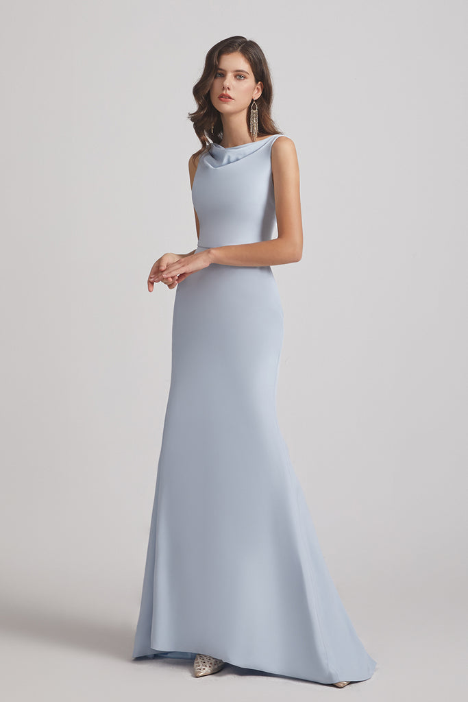 long mermaid bridesmaid dress
