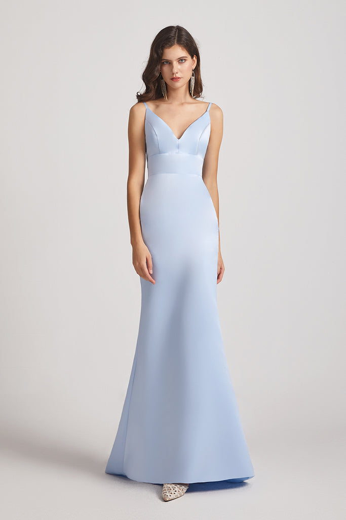 sleeveless  floor length bridesmaid dresses