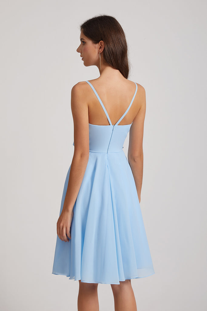 sleeveless maid of honor dress
