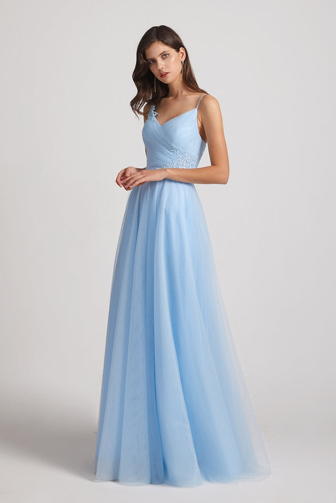 Baby Blue Tulle Bridesmaid Dresses