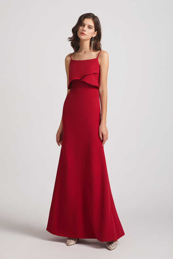 sleeveless red maxi gowns