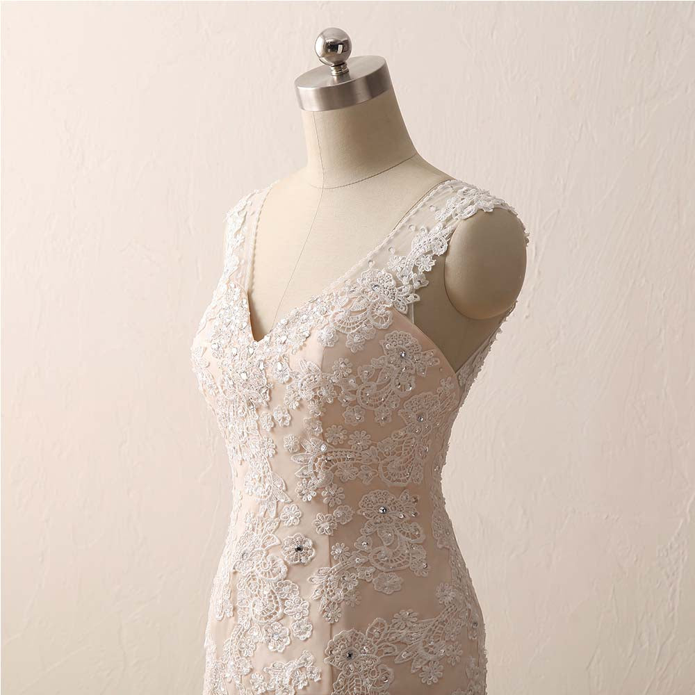 lace appliques wedding gowns