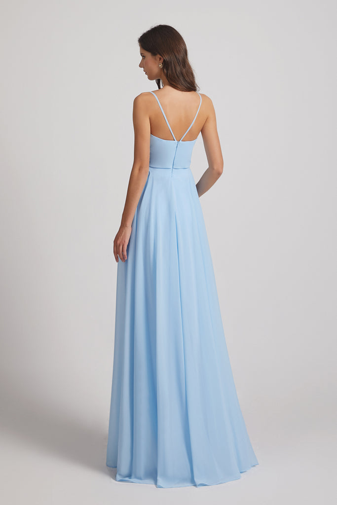 charming sleeveless bridesmaid gowns