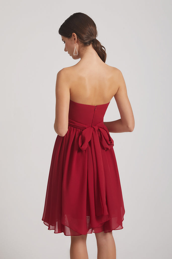 a-line chiffon bridesmaids dress