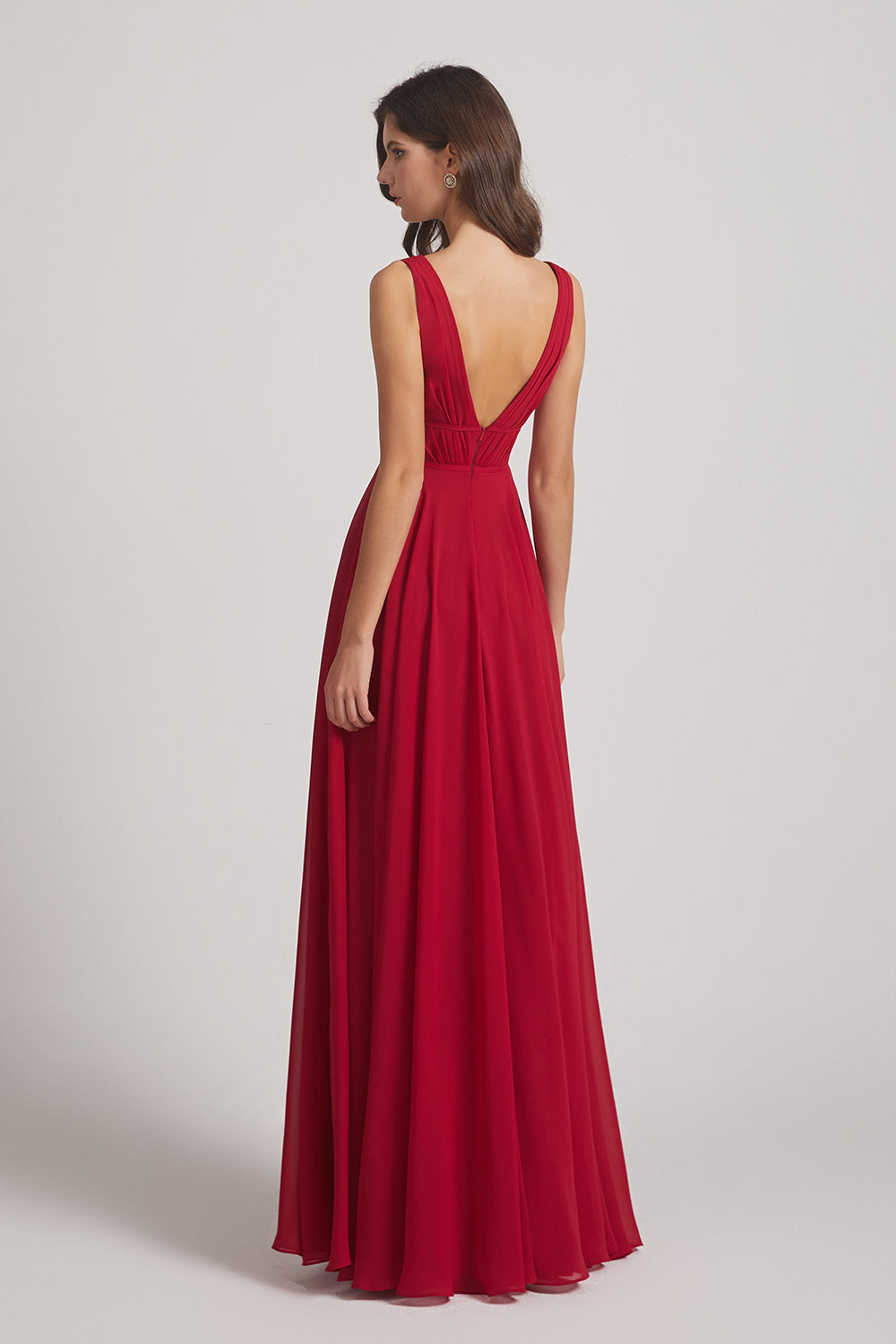 v back seductive bridesmaids dress