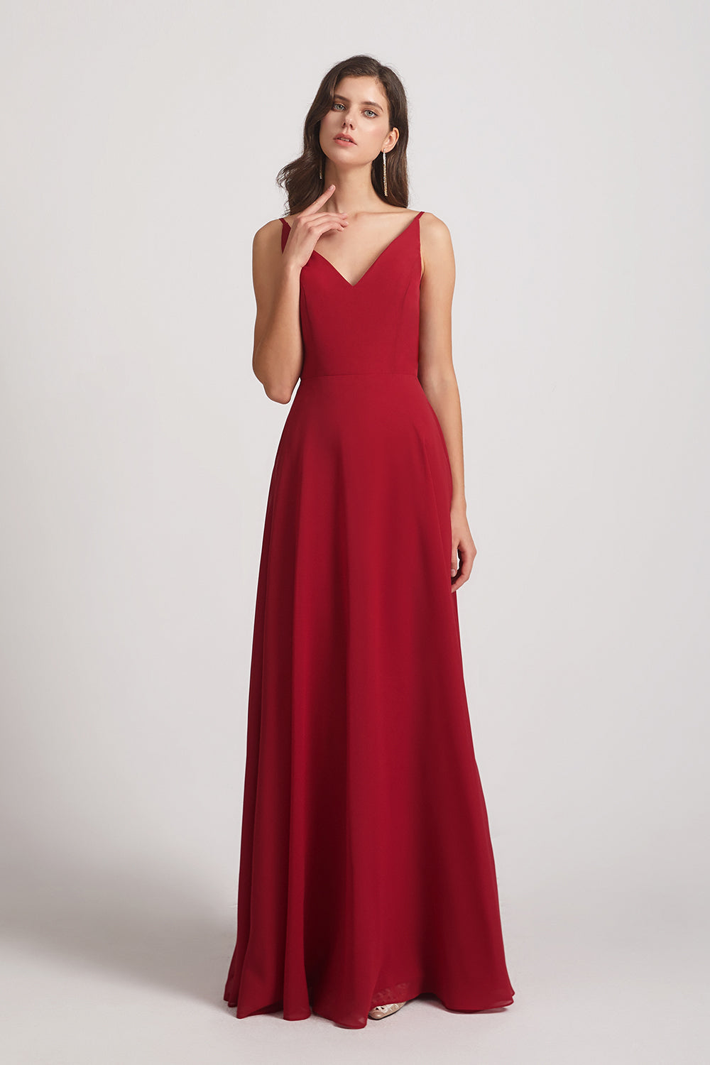 aline sleeveless maid of honor dress