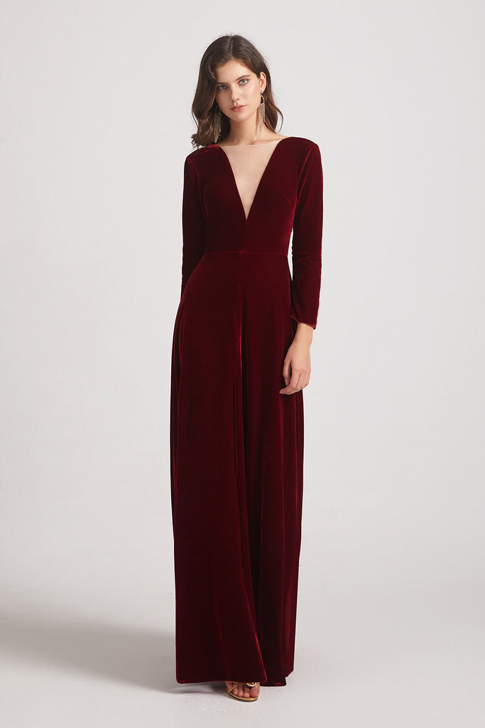 Cozy Velvet Bridesmaid Dresses
