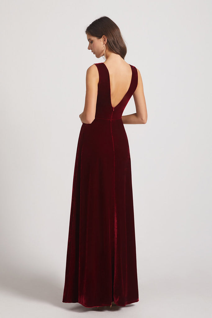 Double V-neck Bridesmaid Dress