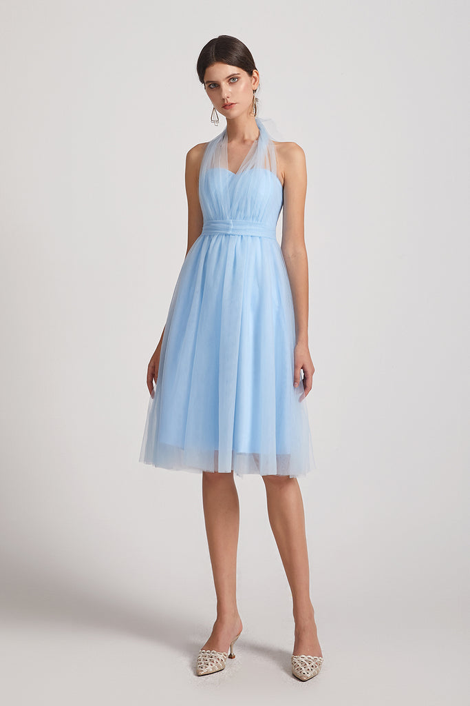 sleeveless convertible a-line maid of honor dress
