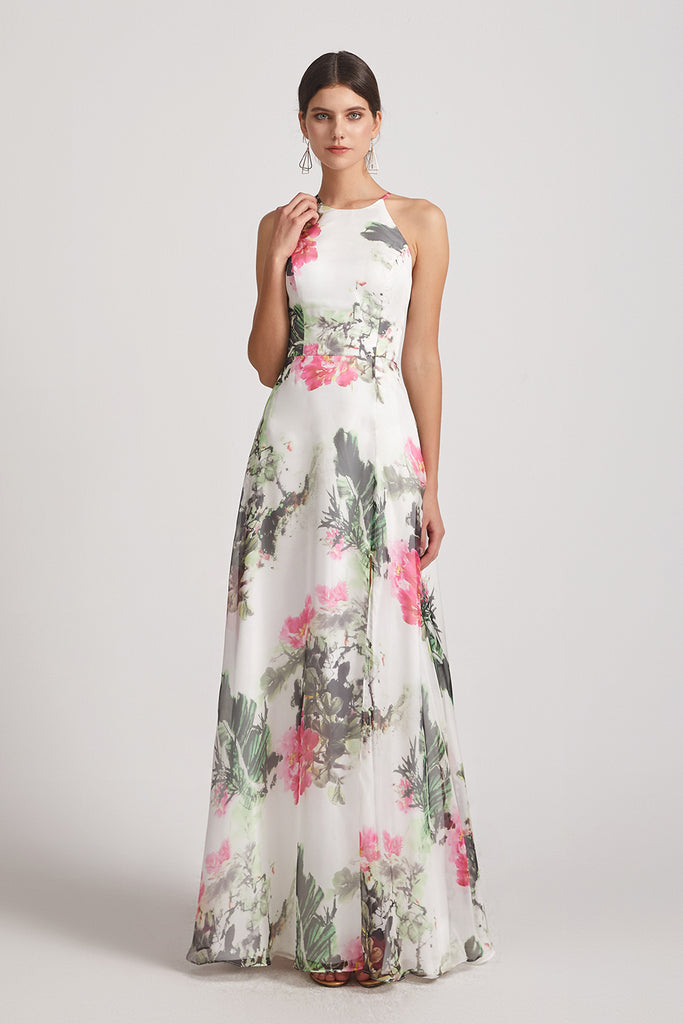floral  maids of honor dresses