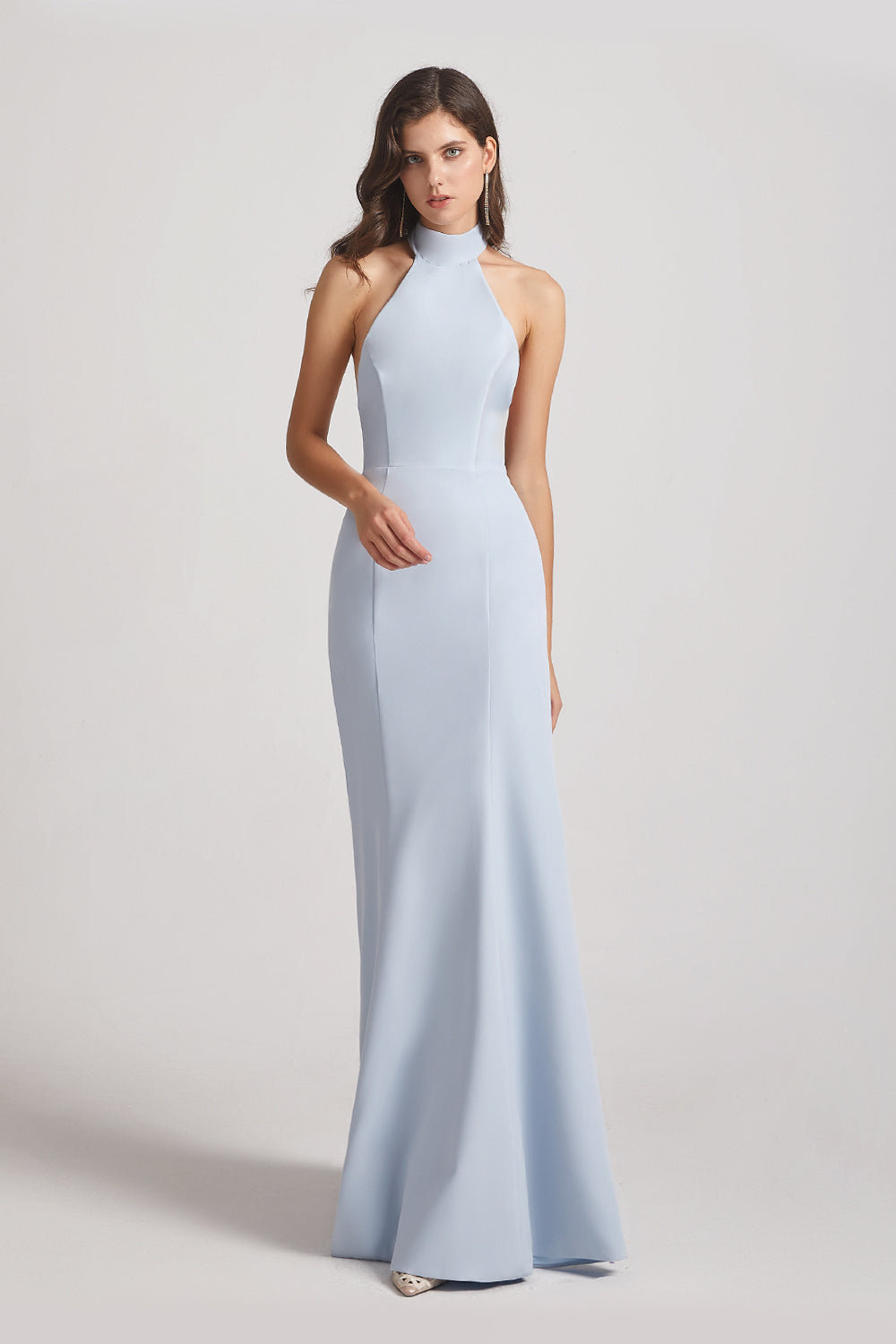 satin sleeveless maid of honor dresses