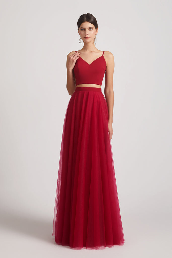 affordable maxi tulle maid of honor dresses