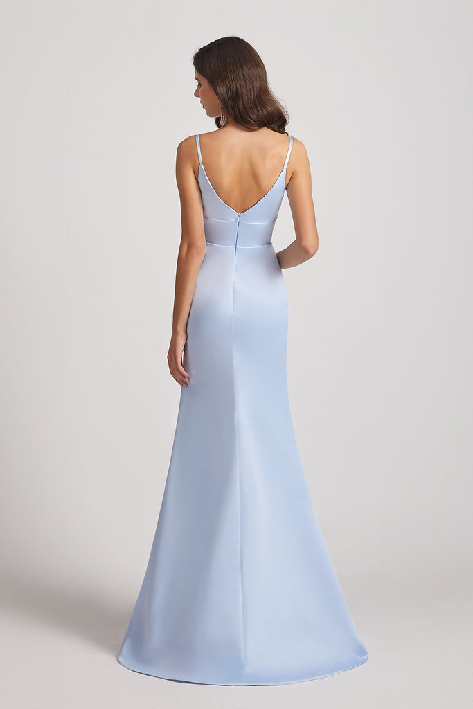 Spaghetti Straps Sheath Bridesmaid Dresses