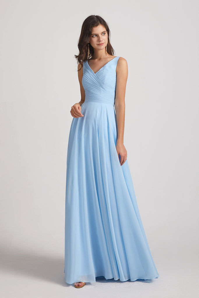 pleated bridesmaid dresses affordable