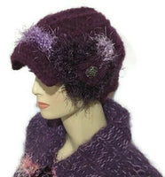 THE MULBERRY ALPACA HAT, crochet beanie, woman's size, stockings stuffer, winter wear, luxury hat