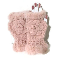 Fingerless gloves, crochet fingerless gloves,  pink alpaca fiber, The pink alpaca fingerless gloves, woman size