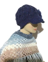 Royal blue hat, woman's size, THE ROYAL BLUE CROCHET HAT, holiday gift, for her, ready to ship