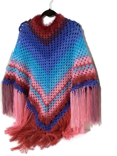 The Alexis poncho, custom order, crocheted cape, Andrea Designs handmade ponchos, fall wear, woman size,