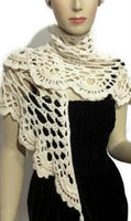 THE VANILLA SHAWL, CROCHET SHAWL, COTTON SHAWL, SUMMER SHAWL, HANDMADE WRAP