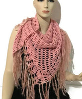 Shawl-wrap, crochet shawl-wrap, alpaca crochet shawl-wrap, pink alpaca crochet shawl-wrap, handmade shawl-wrap, gifts for her, woman size, size small