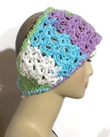 Crochet cotton headband, handmade headband, The spring garden headband