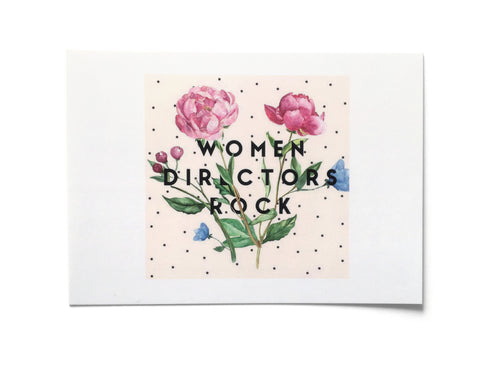 POSTCARD PACK - Women Directors Rock (Flowers)