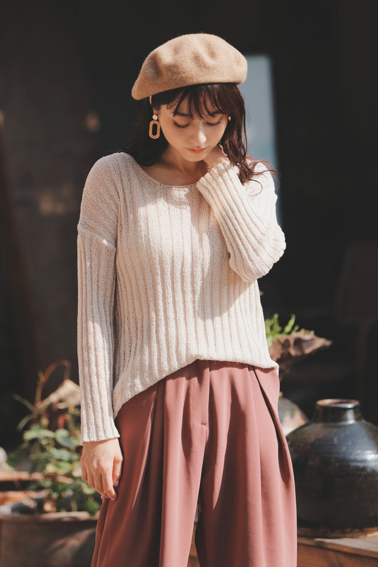 Relax Knit [Black/Beige]