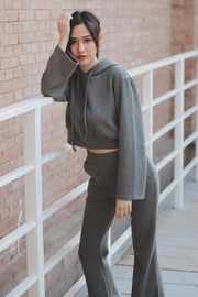 【Grace Buchita】Cut-and-sew setup with hood [grey]