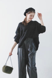 Voluminous Loose Knit [Black]