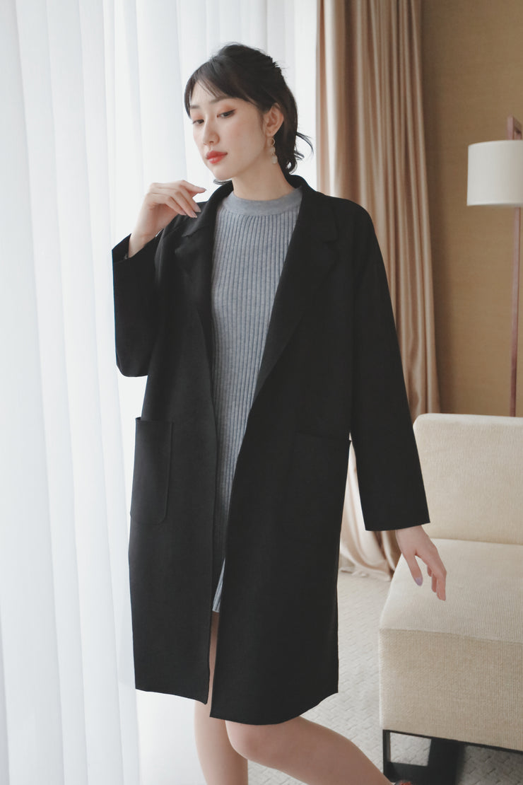 【Anastashia】Suede Coat [black]