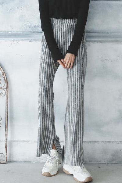 Ribbed Flare Pants
