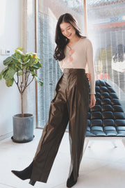 Leather Pants [Brown]