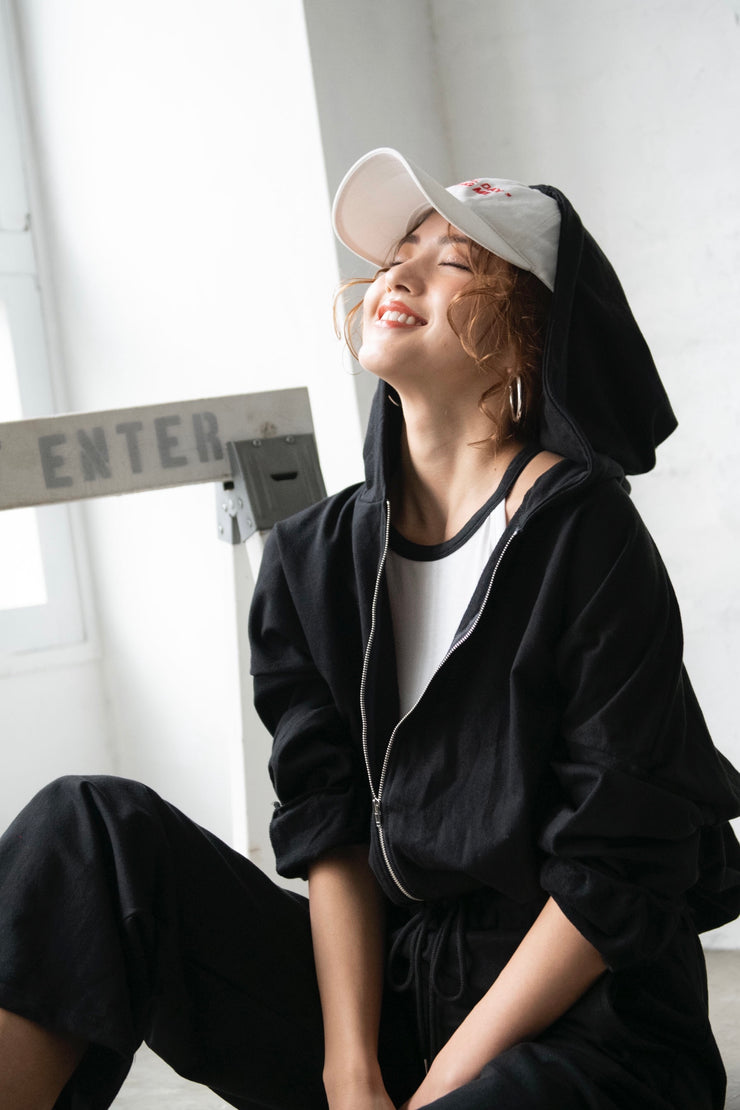 All-In-One Hoodie【Black/White】