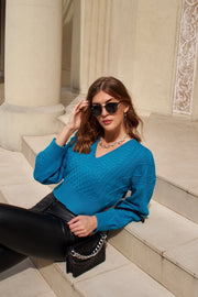 Cable Stitch Knit Top