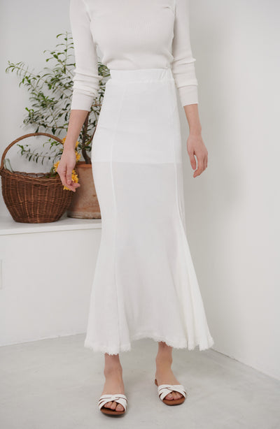 Maxi Length Skirt【pink/white】