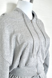 Zip Hoodie & Pants Set 【gray/black】