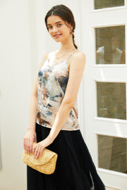 Marble Satin Camisole【beige/yellow】