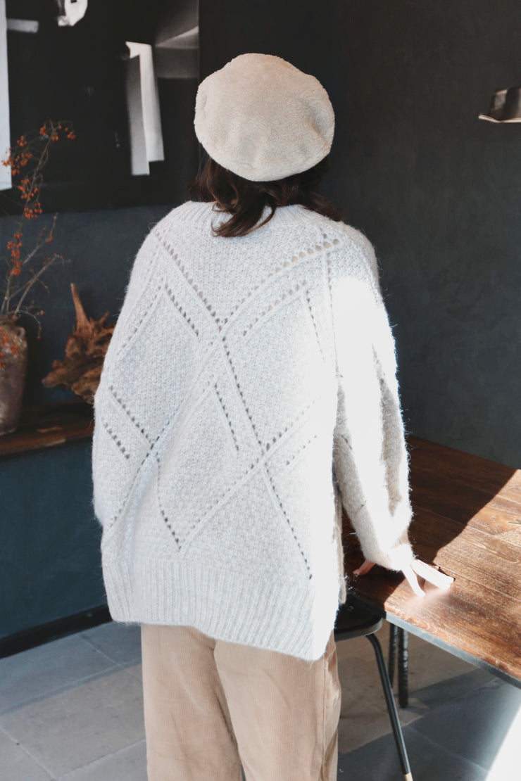 Cable Knit [ivory]