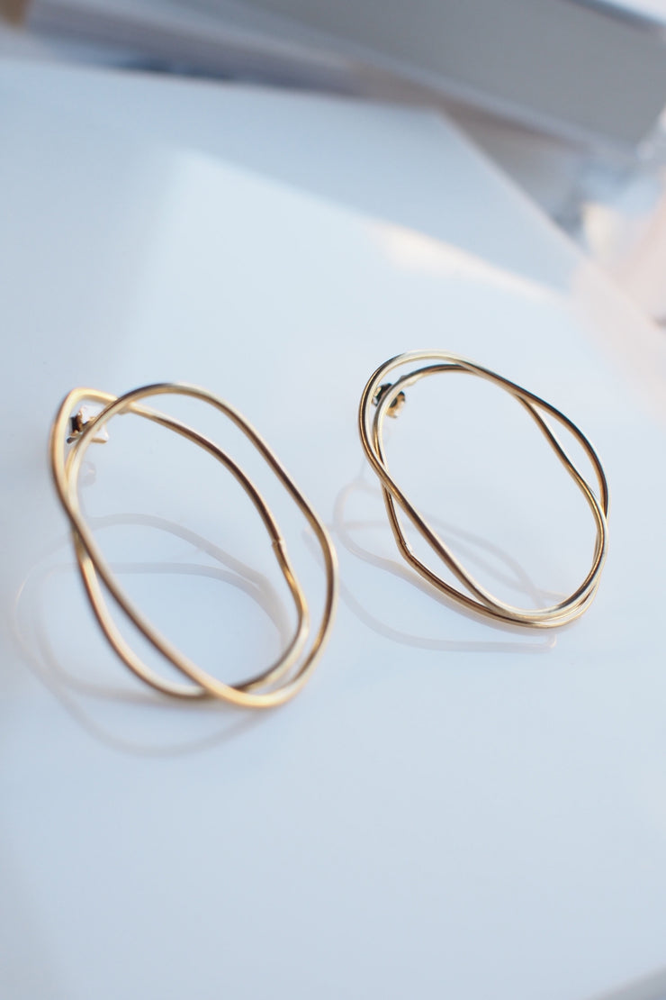 Wire Wrap Earrings [Gold/Silver]