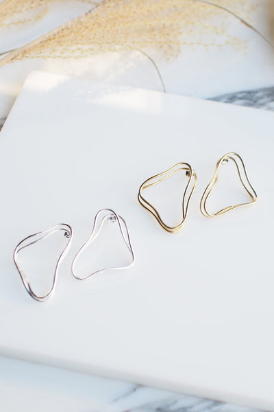 Wire Square Earrings [Gold/Silver]
